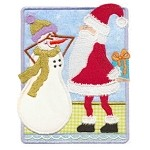 Santa Guess Who Applique Design